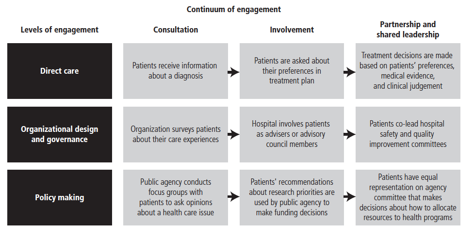 the patient experience in ontario what is possible  framework for patient and family engagement in health and healthcare
