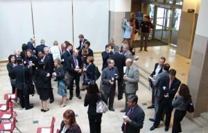 Participants begin to arrive