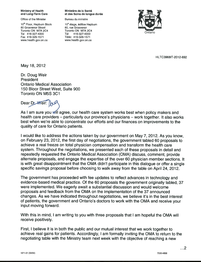 Letter to doug weir oma from deb matthews may 2012 longwoods blog this stopboris Gallery
